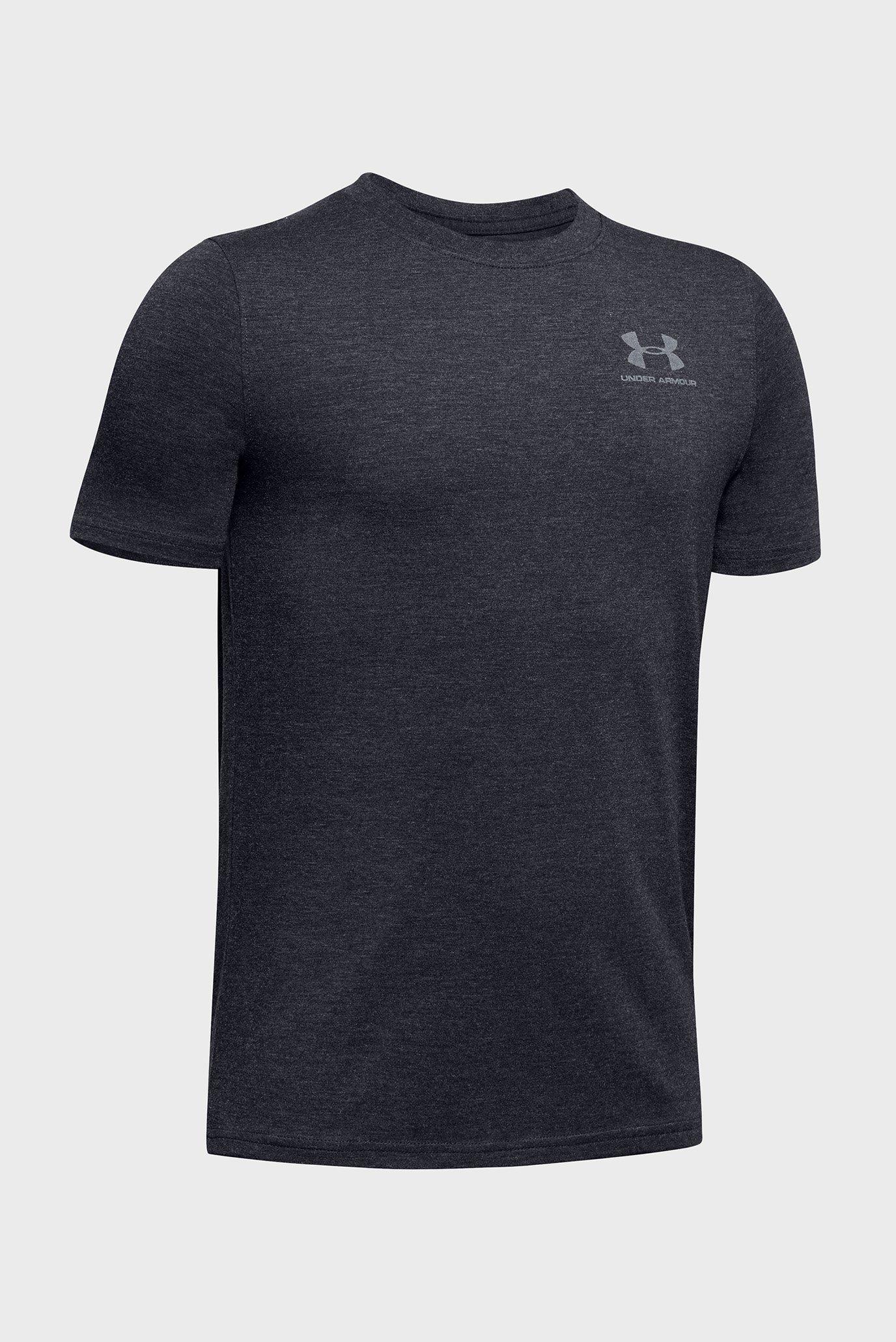 Купить Детская серая футболка UA Cotton SS Under Armour Under Armour 1347096-002 – Киев, Украина. Цены в интернет магазине MD Fashion