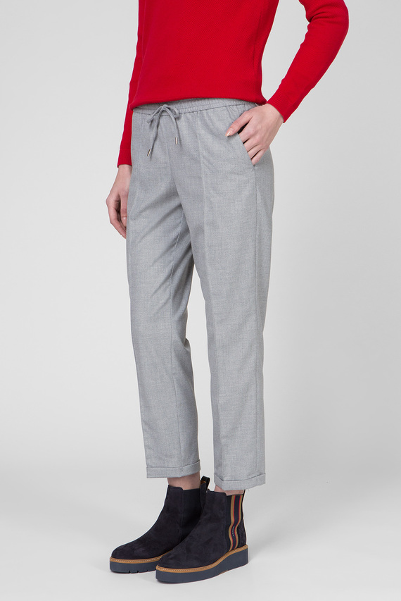 Женские серые брюки WOOL LOOK PULL ON