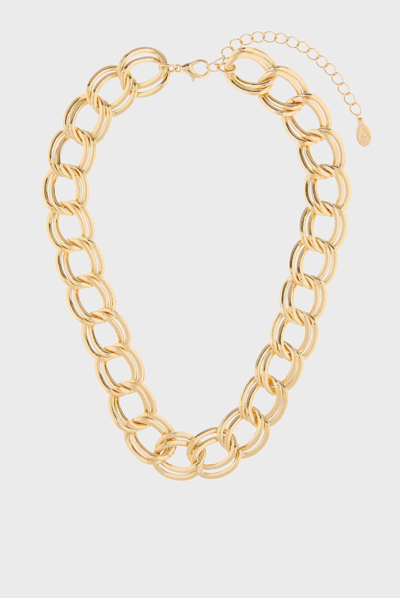 Жіноче золотисте кольє DOUBLE LINKED CURB 1