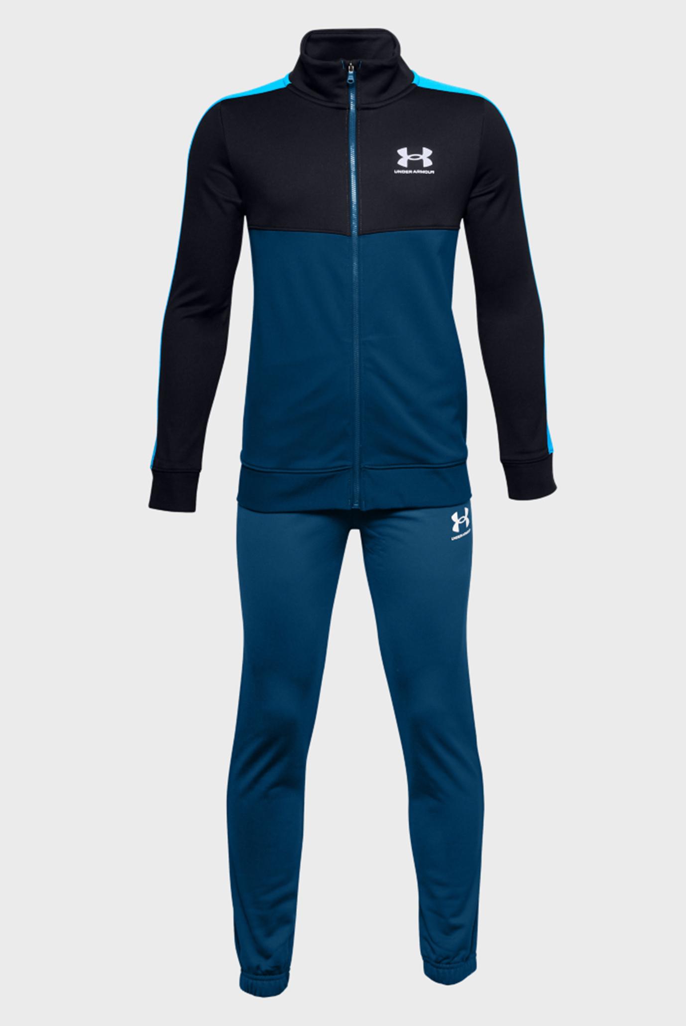 Дитячий синій спортивний костюм (кофта, штани) 1