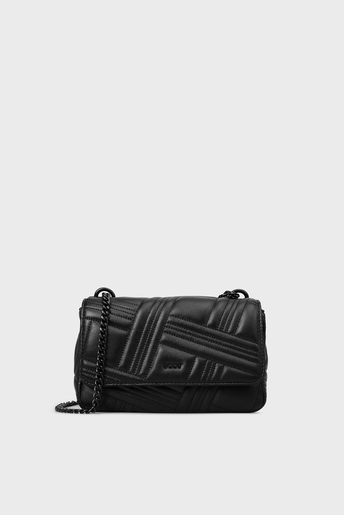 31dbdaf2ce92 Купить Женская черная кожаная сумка через плечо DKNY DKNY R833B638 – Киев,  Украина. Цены в интернет магазине ...