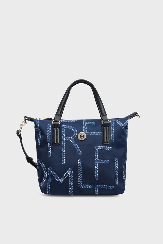 Женская синяя сумка через плечо POPPY SMALL TOTE ROPE