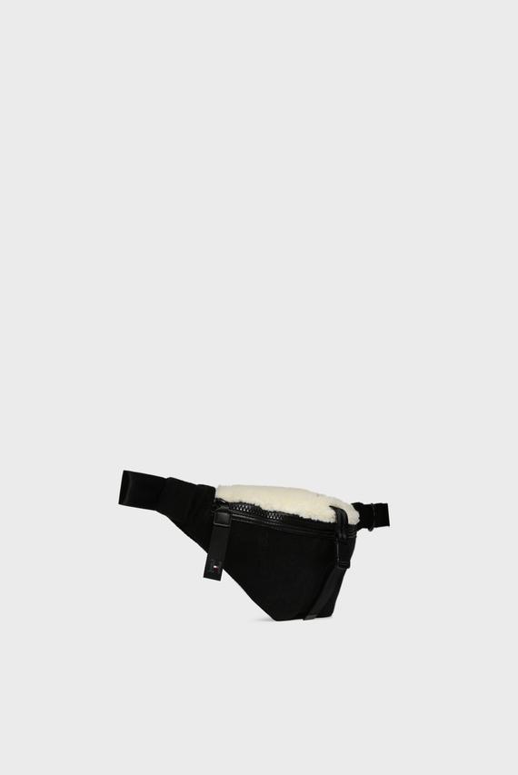 Мужская черная вельветовая поясная сумка ALL TERRAIN