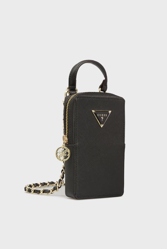 Женская черная сумка для телефона
