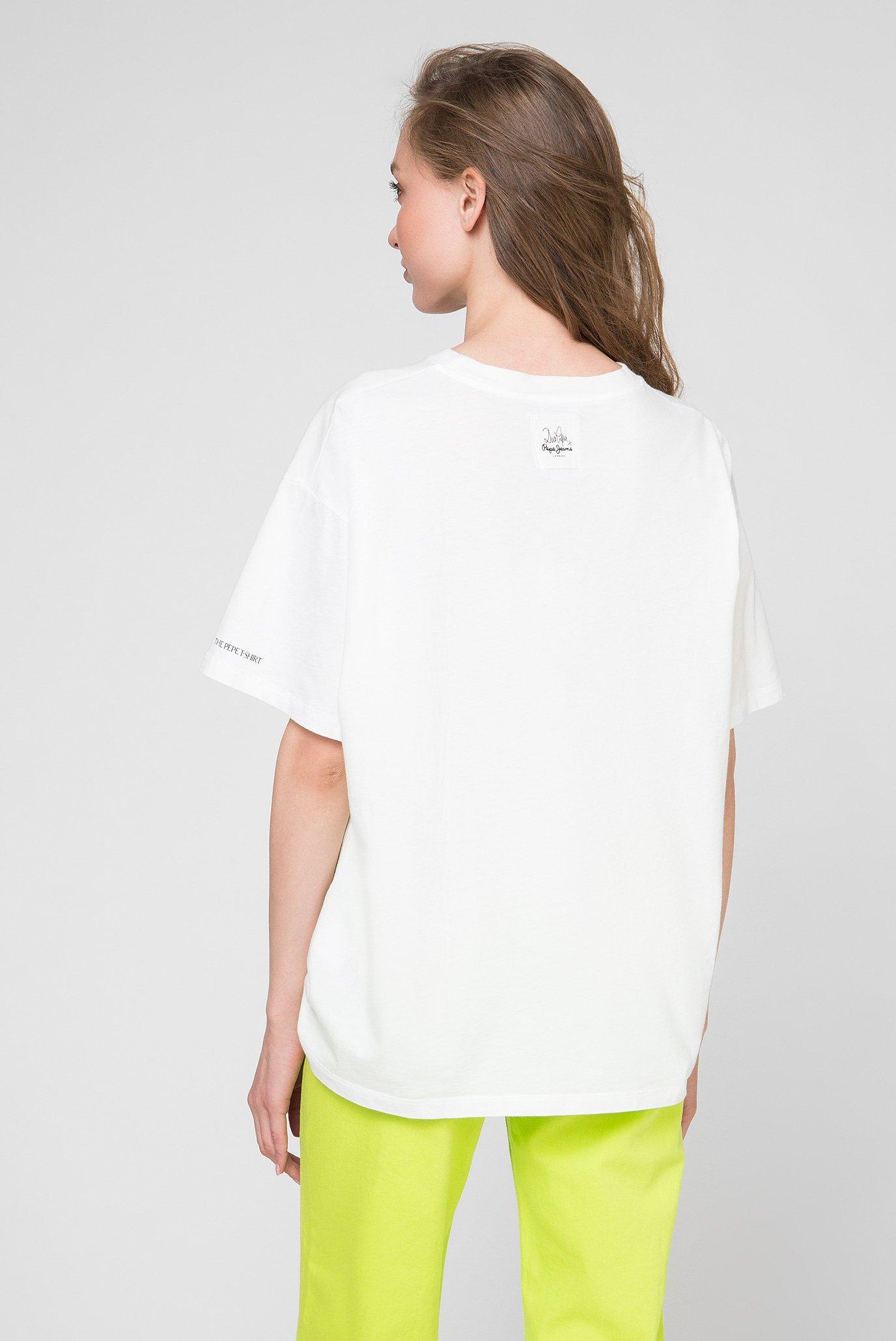 Женская белая футболка LULA Pepe Jeans