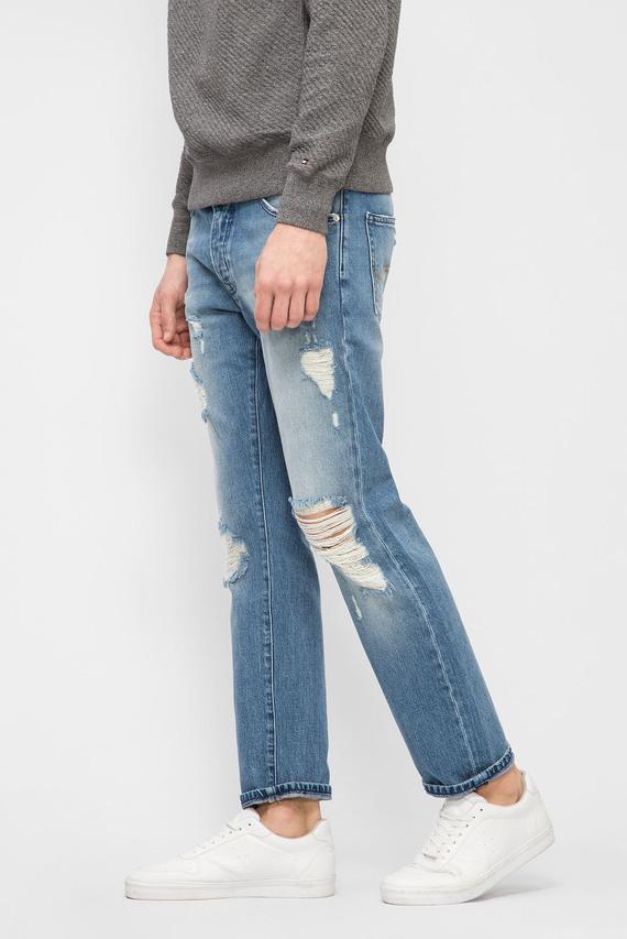 Мужские синие джинсы STRAIGHT SLATER CLBLRIDE