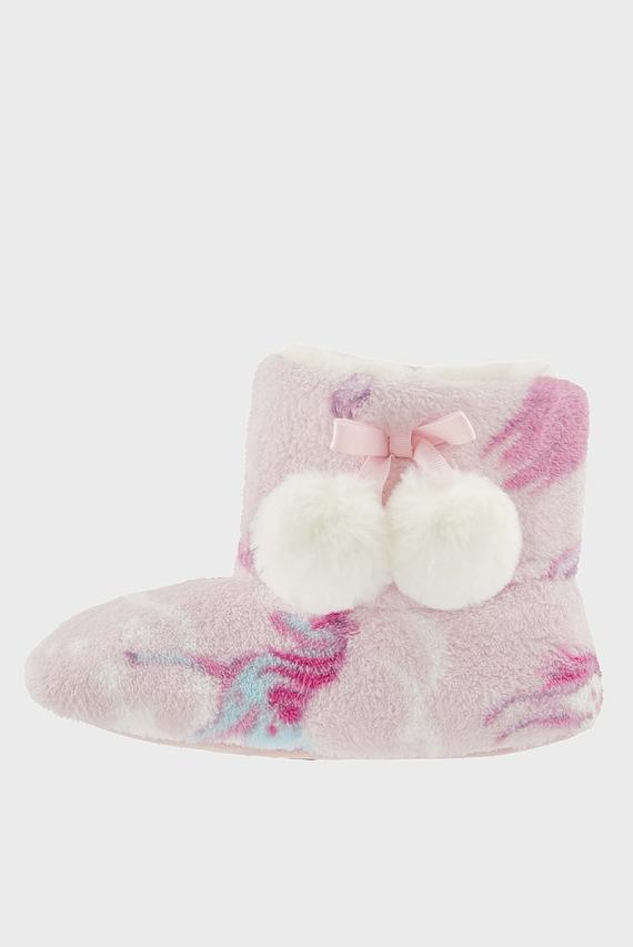 Детские розовые домашние тапки VIVIANNA SLIPPER