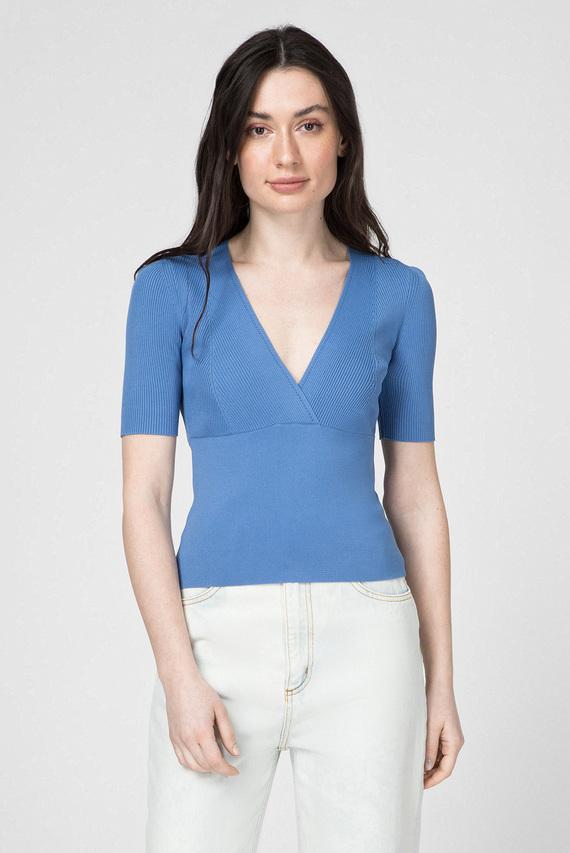 Женский синий топ