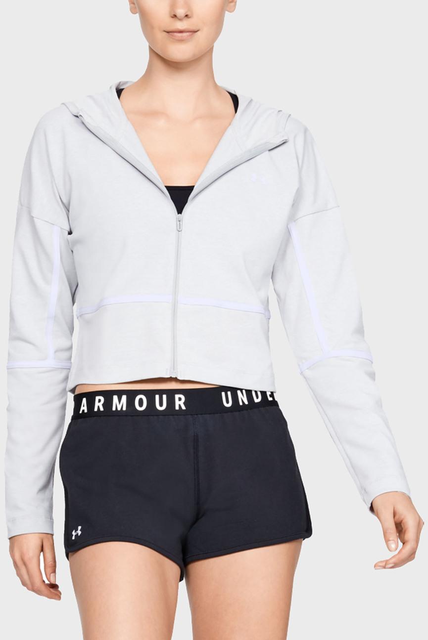 Женское серое худи UA Lighter Longer Full Zip