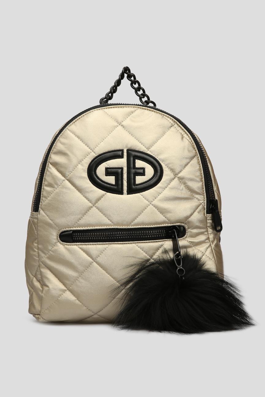 Женский золотистый рюкзак