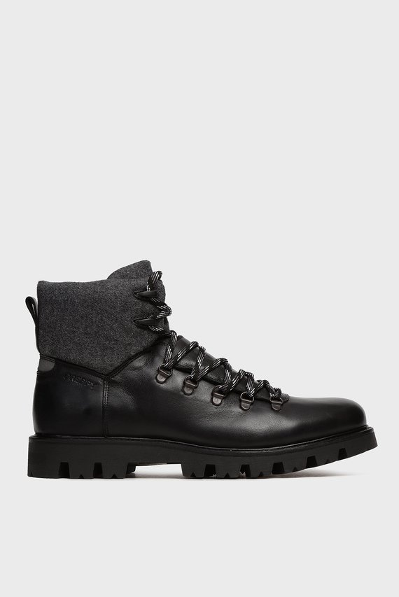 Мужские черные кожаные ботинки Toni