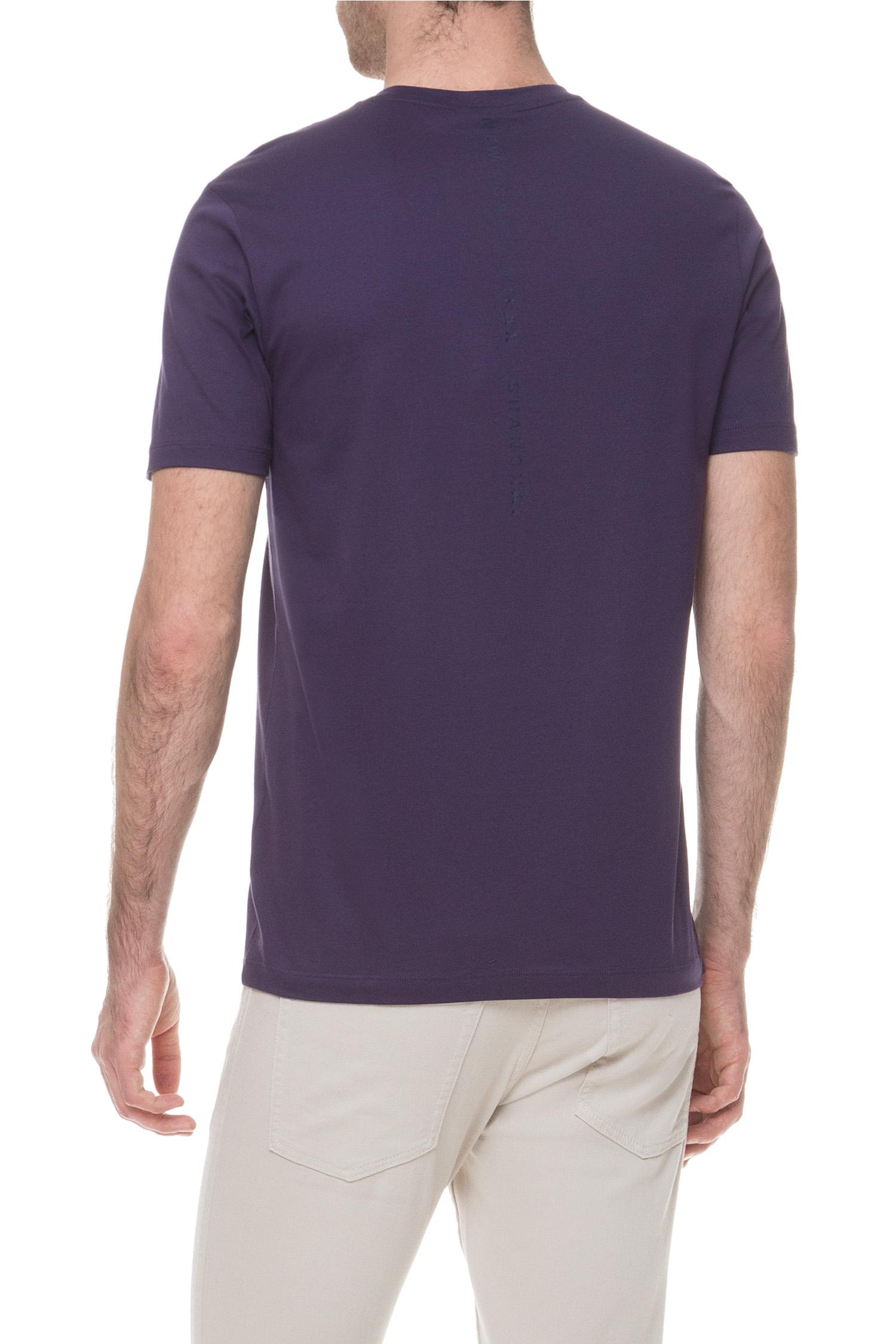 Мужская фиолетовая футболка BOSS