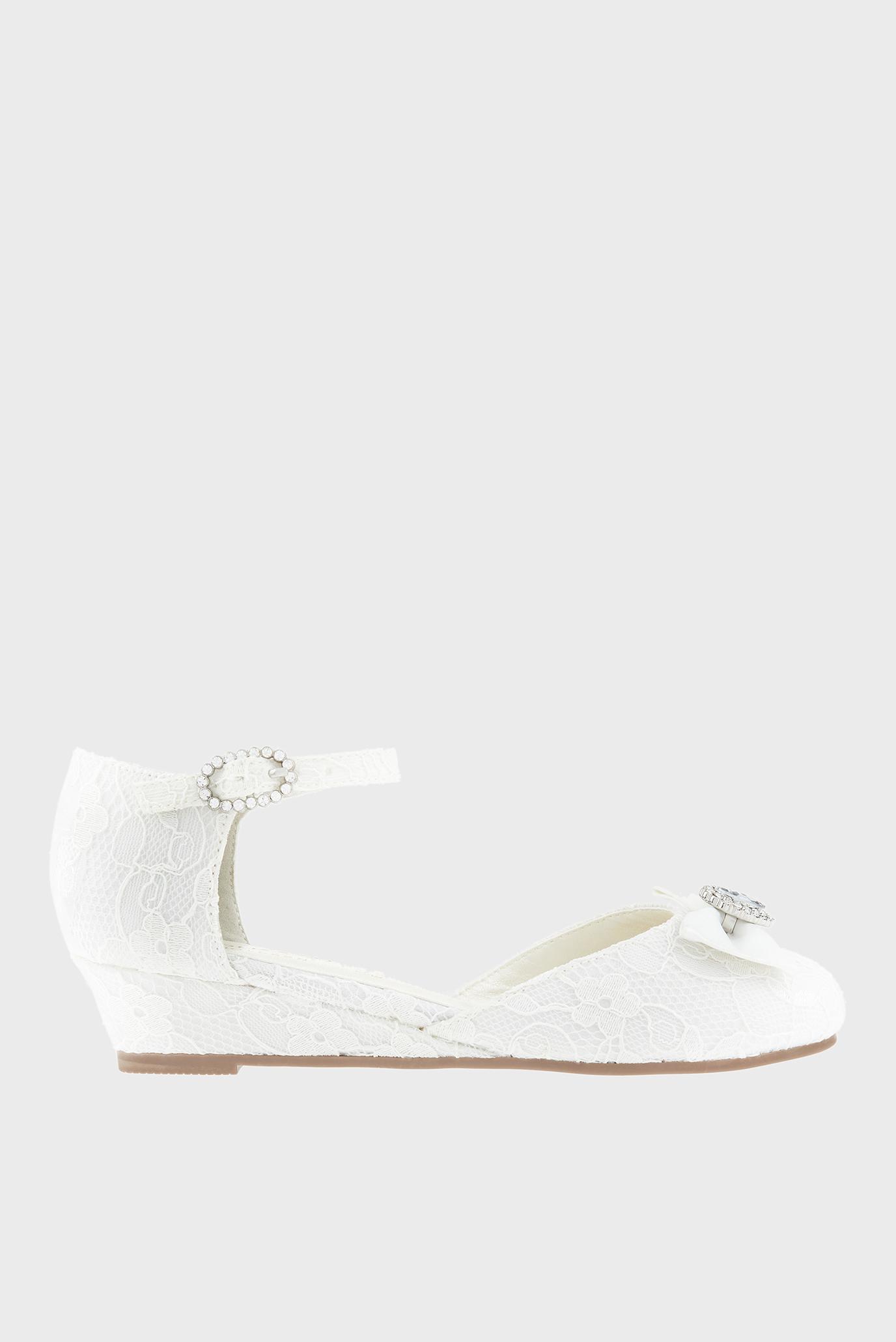 Детские белые туфли RENEE BRIDAL LACE 1
