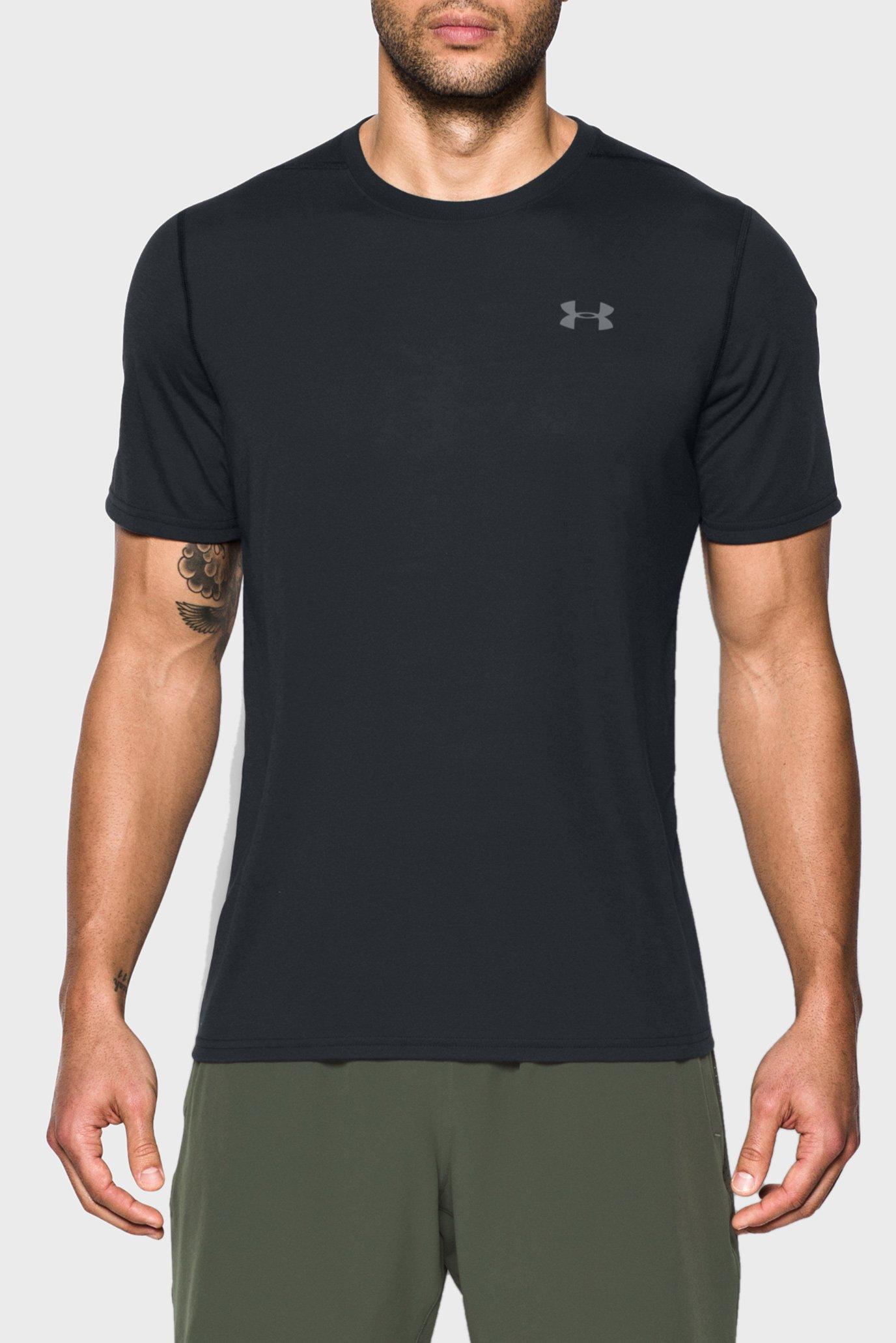Чоловіча чорна футболка UA Threadborne SS 1