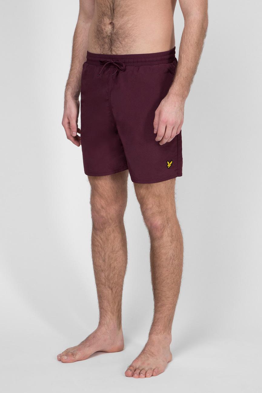 Мужские бордовые плавательные шорты