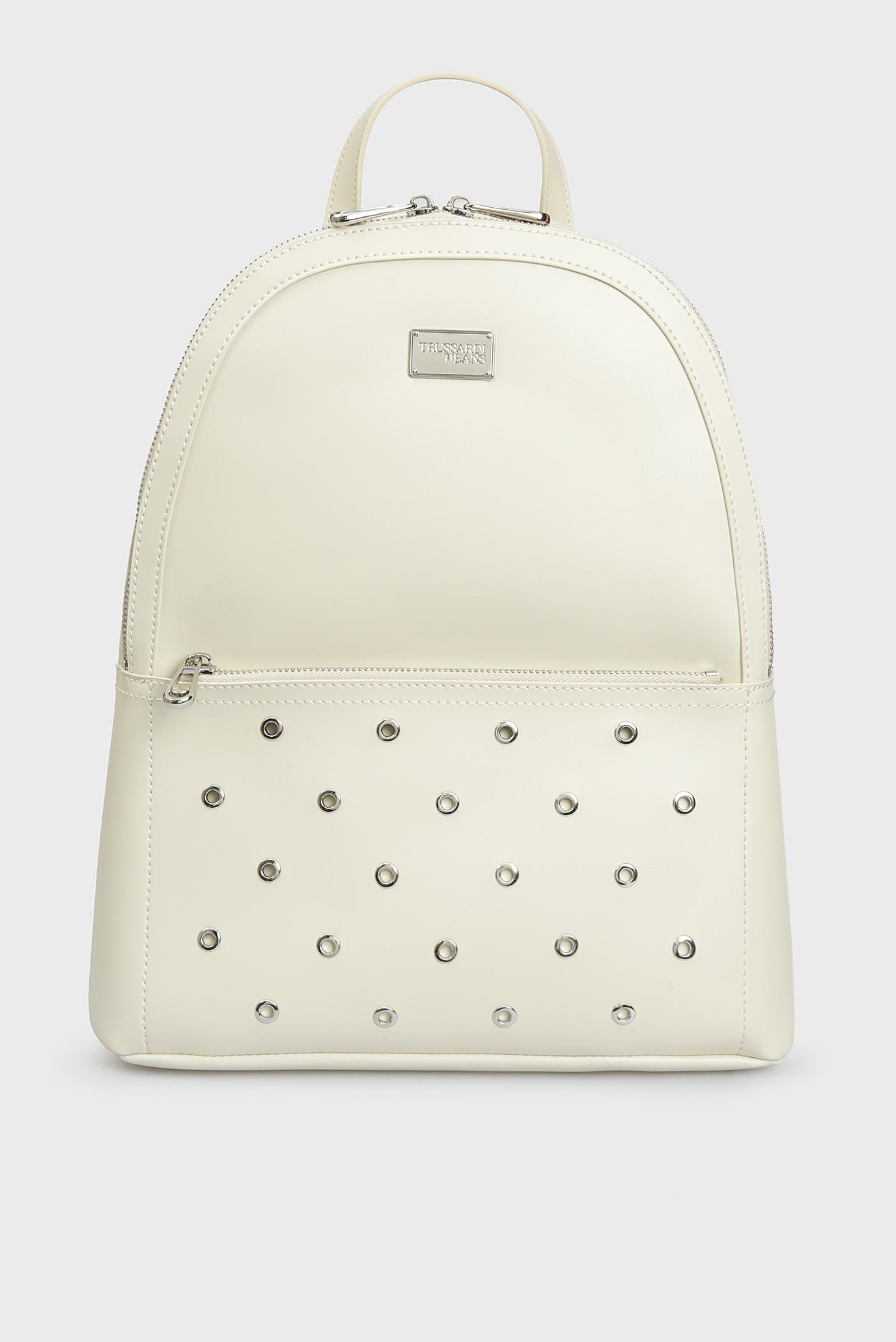 Женский белый рюкзак EMMA Trussardi Jeans