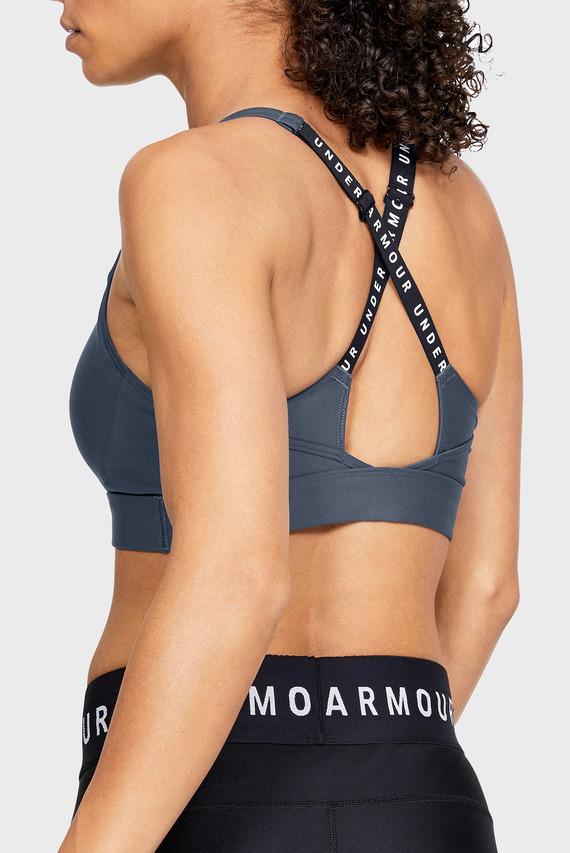 Женское темно-серое спортивное бра UA VANISH Mid Bra -GRY
