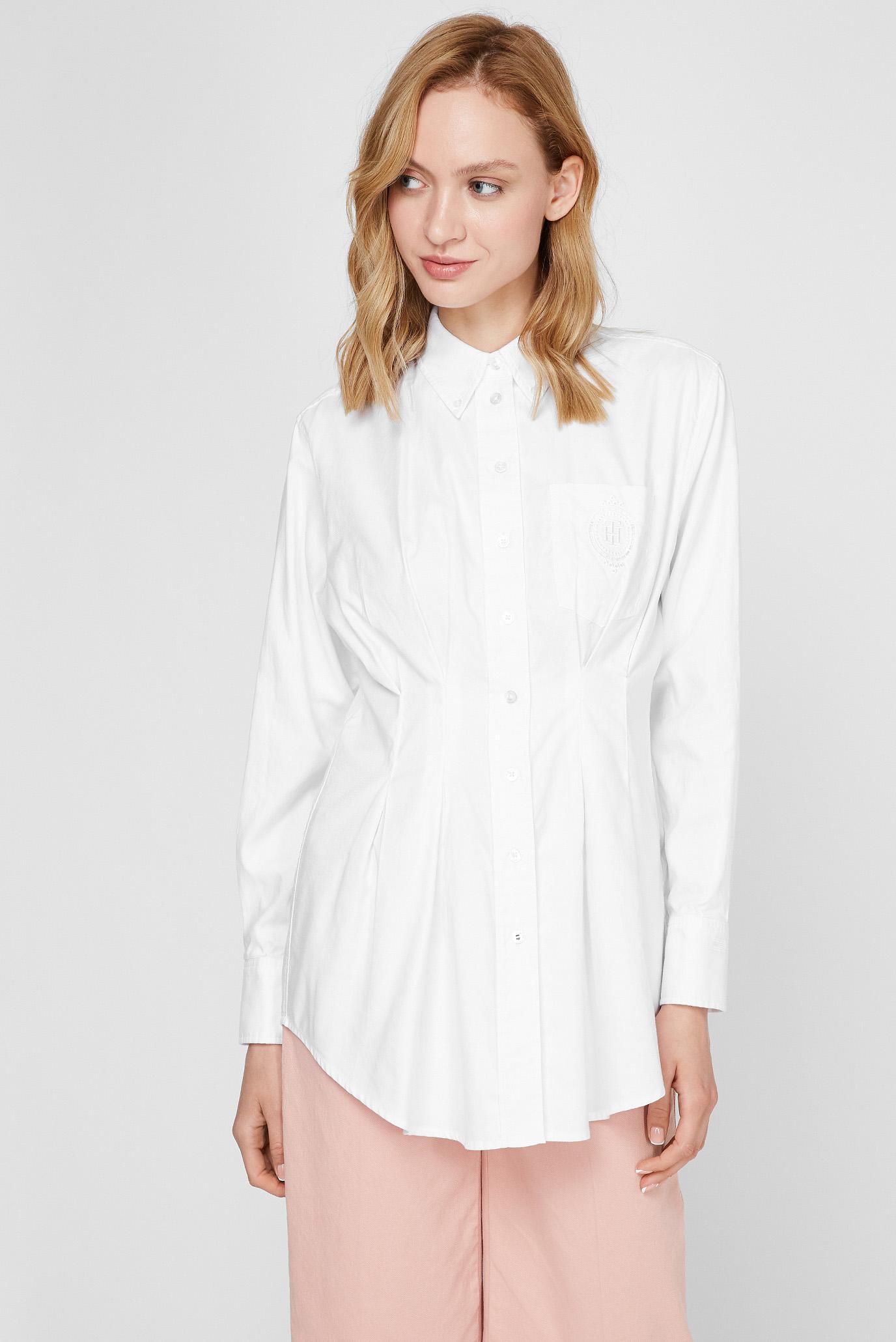 Женская белая рубашка ICON OXFORD OVERSIZED 1