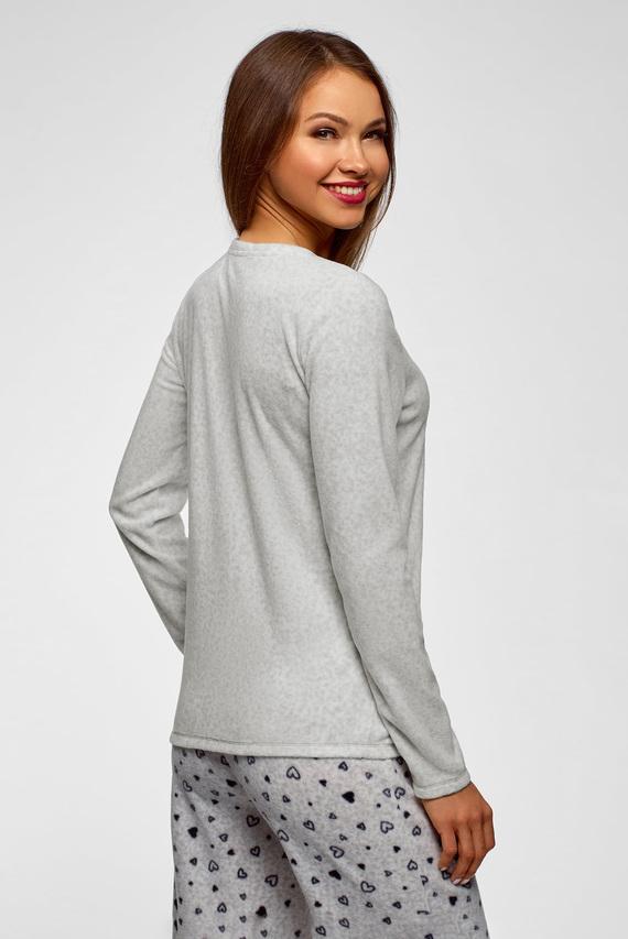 Женский серый пижамный джемпер