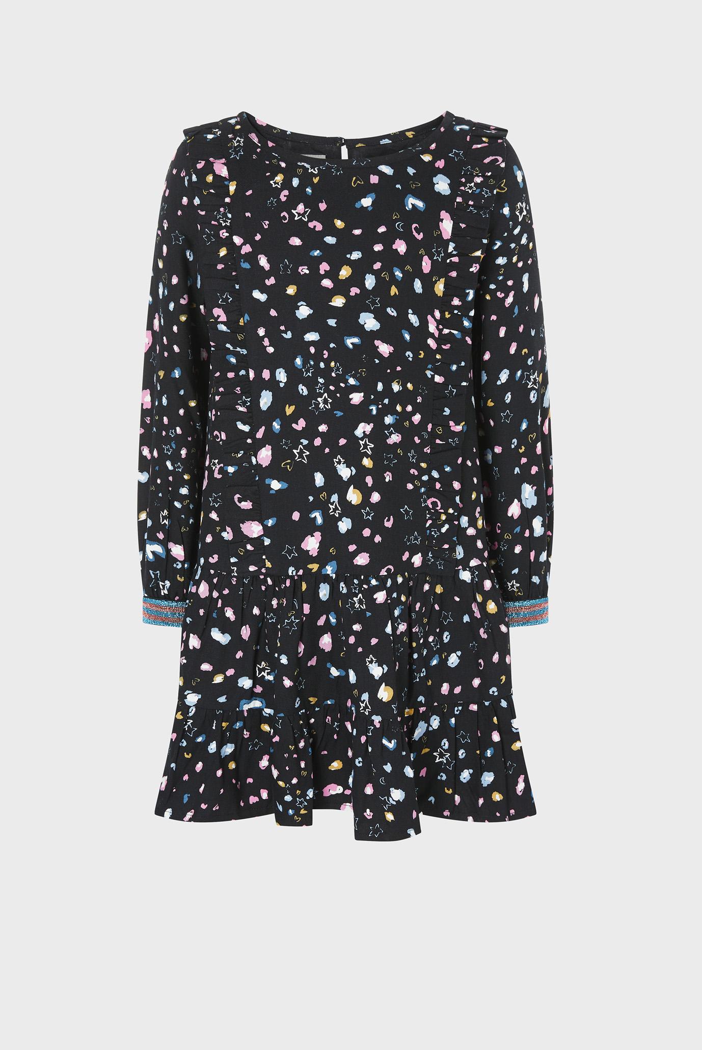 Дитяча чорна сукня ANIMAL LONG SLEEVE 1