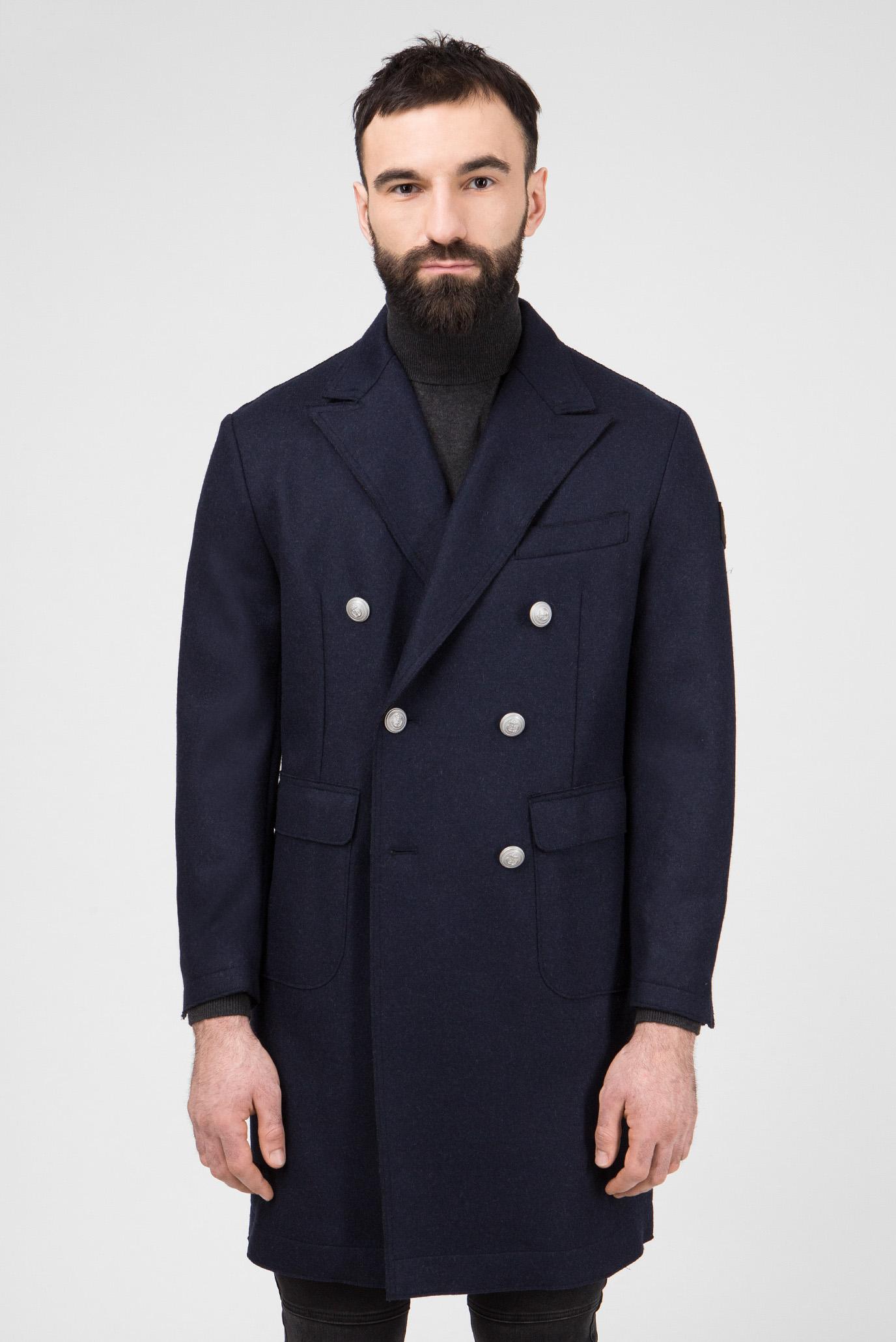 Купить Мужское темно-синее шерстяное пальто Replay Replay M8947 .000.22620 – Киев, Украина. Цены в интернет магазине MD Fashion