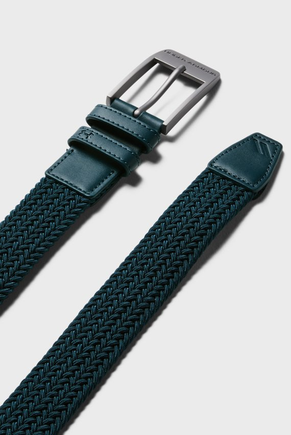 Мужской темно-зеленый ремень UA Men's Braided 2.0 Belt-GRN