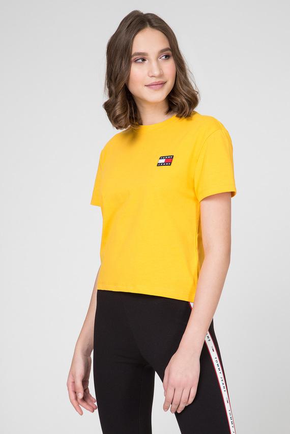 Женская желтая футболка TJW TOMMY BADGE