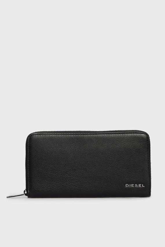 Мужской черный кожаный кошелек THEBEIS