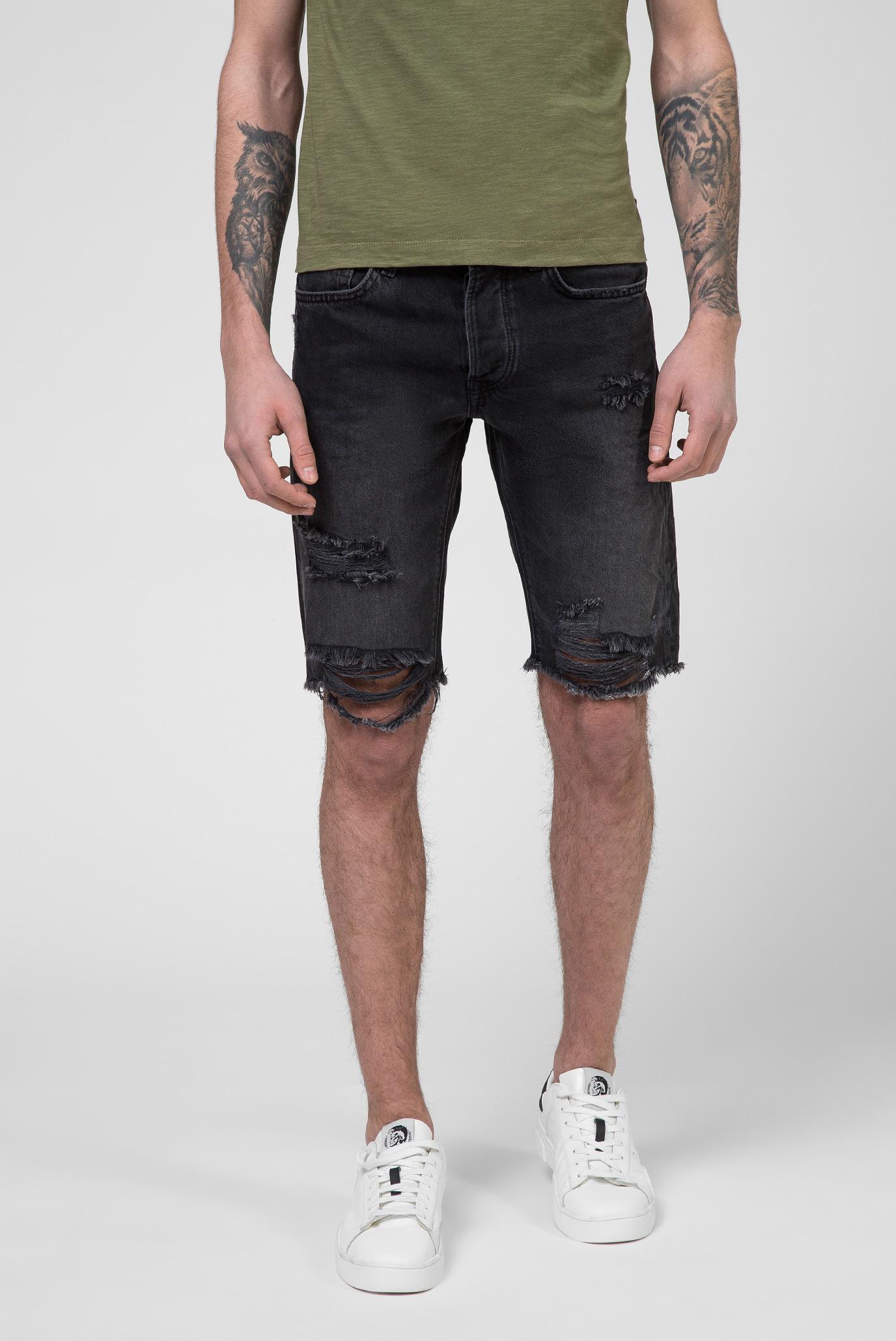 Мужские черные джинсовые шорты STANLEY 1