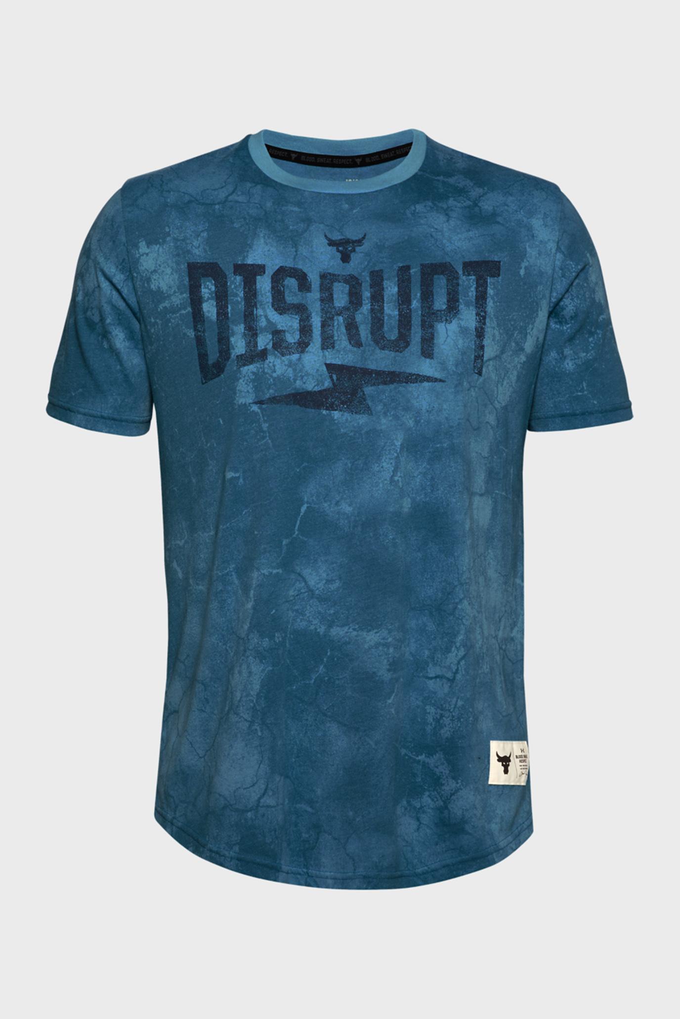 Чоловіча блакитна футболка UA PROJECT ROCK DISRUPT SS 1