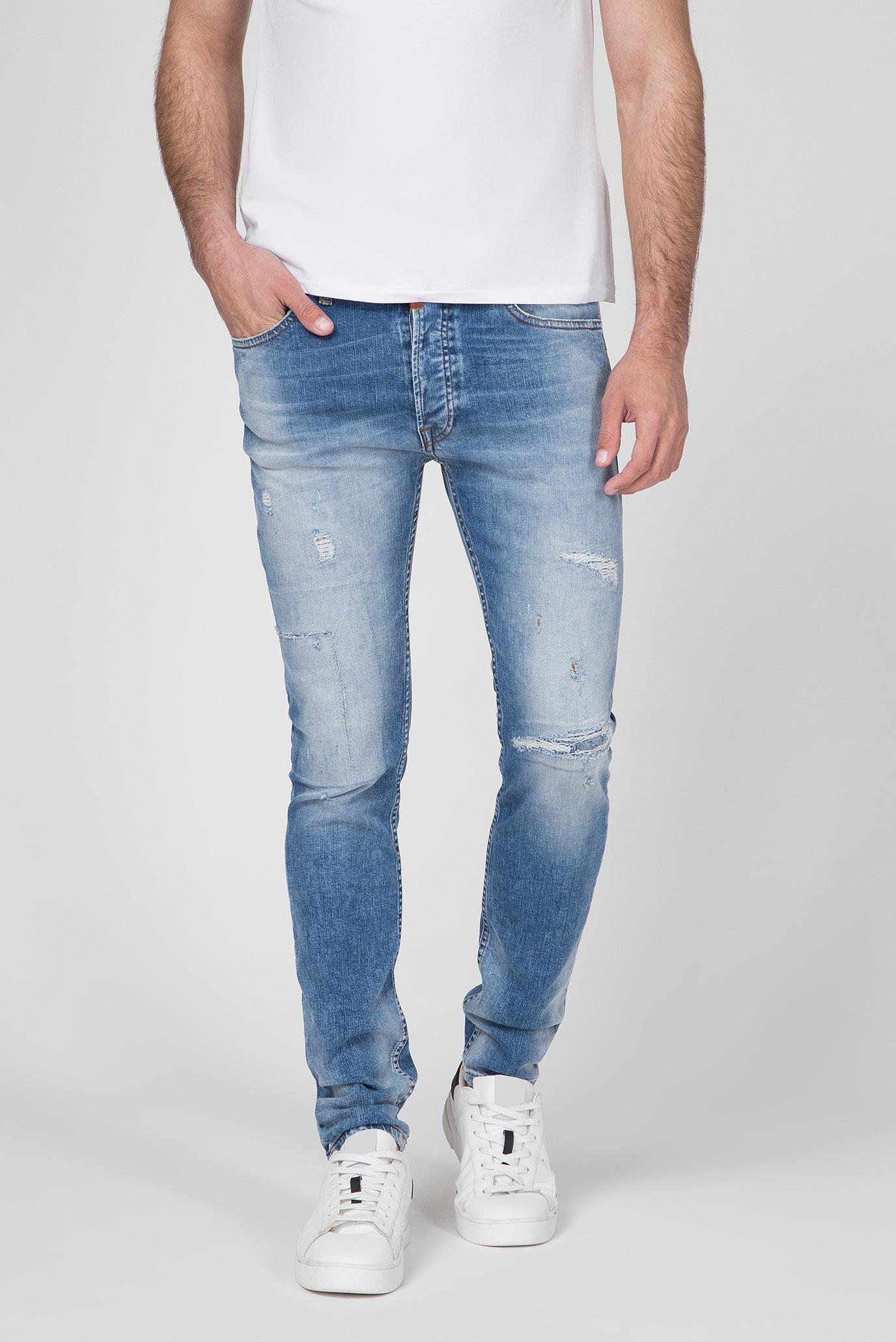 Мужские голубые джинсы Morten Slim Fit Tigha