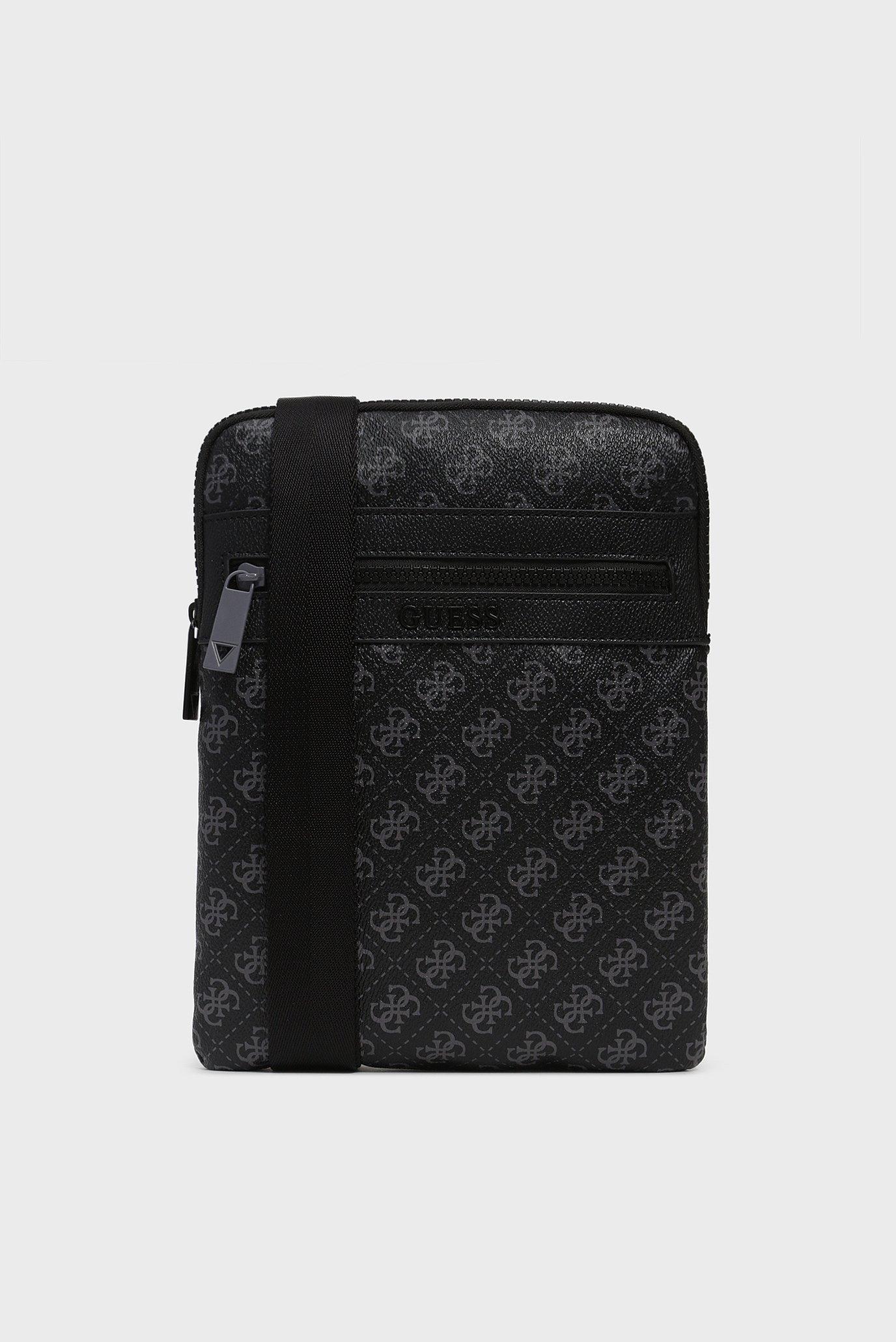 Купить Мужская черная сумка через плечо 4G SPORT FLAT CROSSBODY Guess Guess HM6691POL93 – Киев, Украина. Цены в интернет магазине MD Fashion