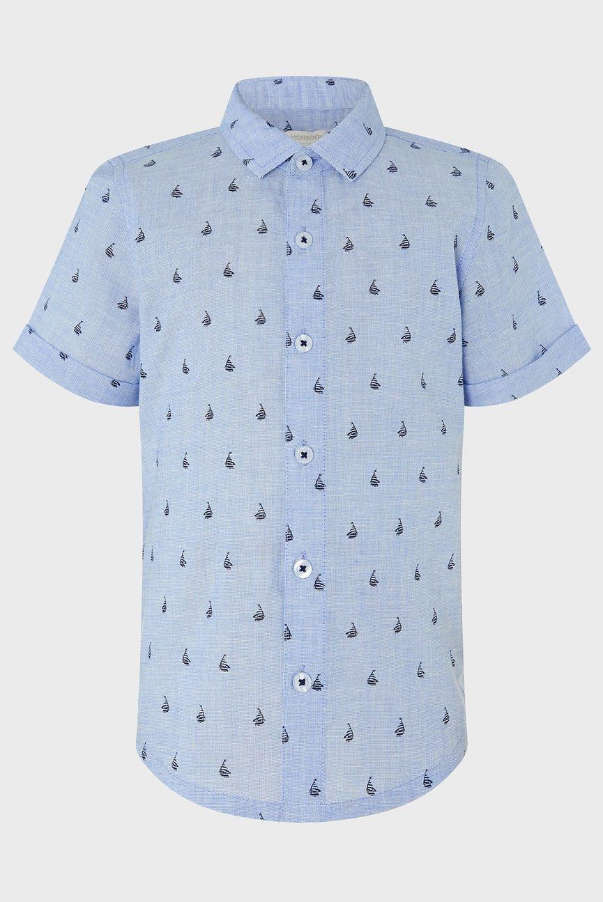 Детская голубая рубашка Morgan Boat