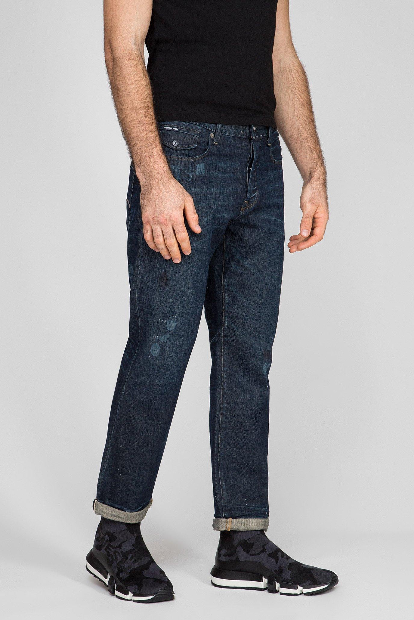 Мужские темно-синие джинсы Morry 3D relaxed tapered G-Star RAW