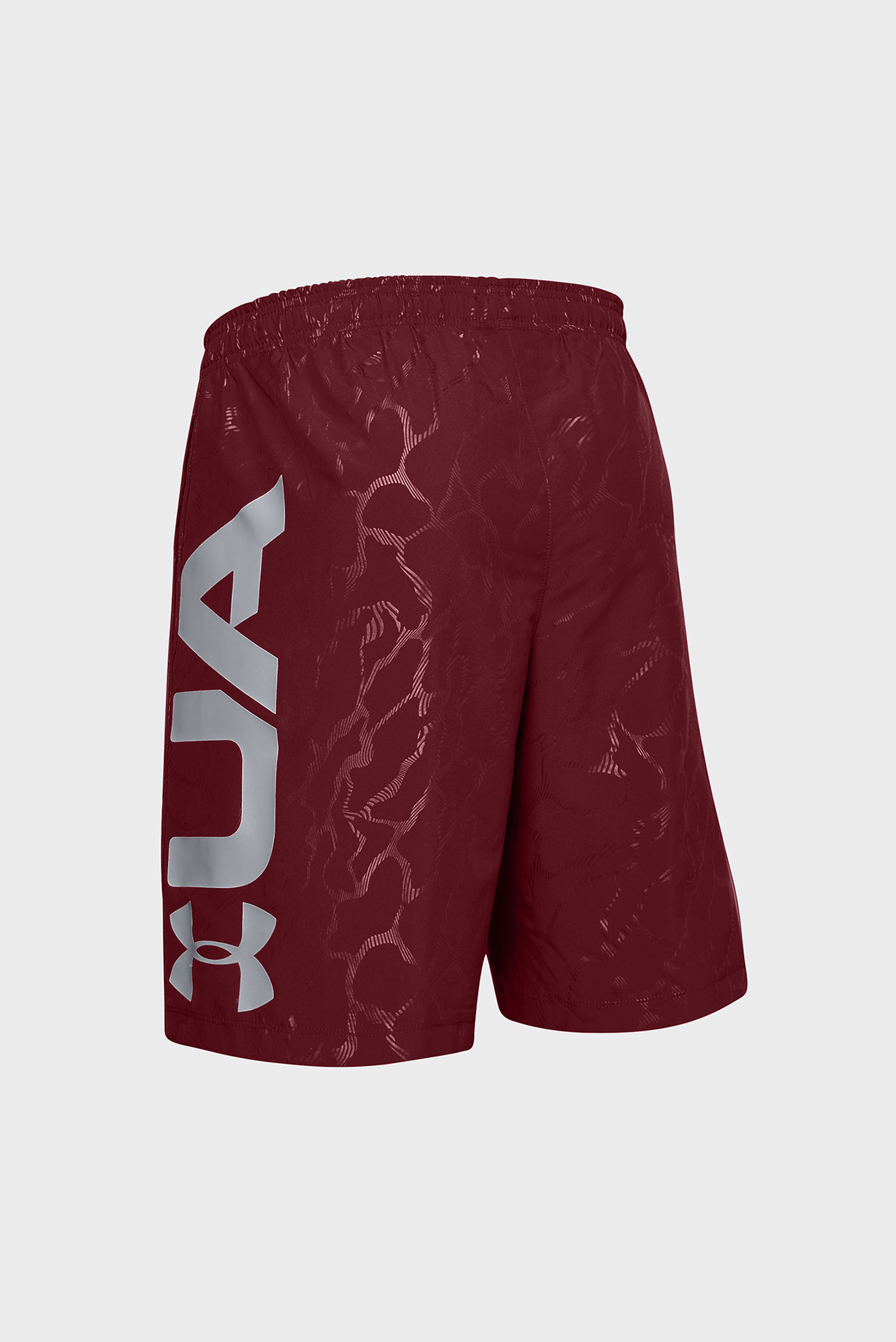 Мужские бордовые шорты Woven Graphic Emboss Shorts Under Armour