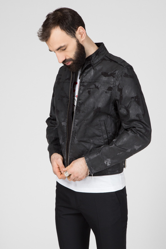 Мужская черная джинсовая куртка D-JEI-SP1-NE