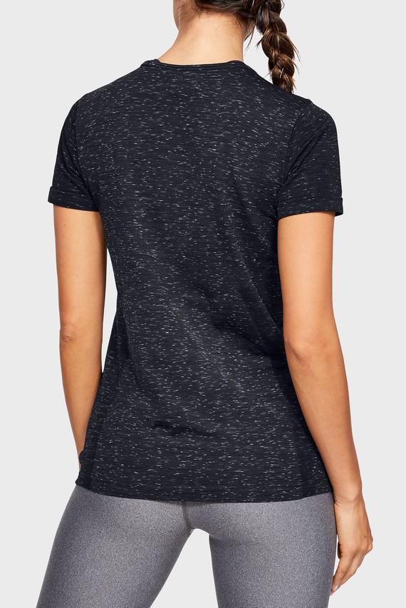 Женская черная футболка UA Vanish Seamless SS Spacedye
