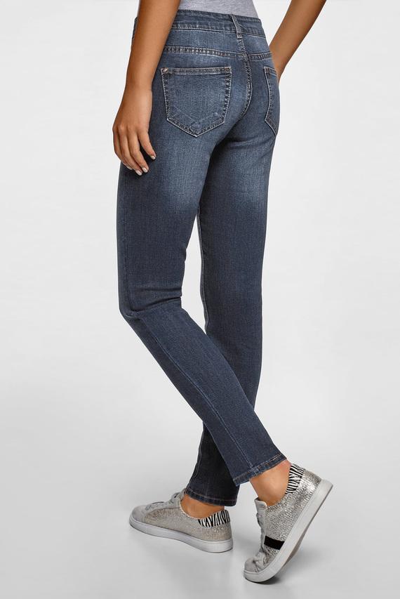 Женские темно-синие джинсы