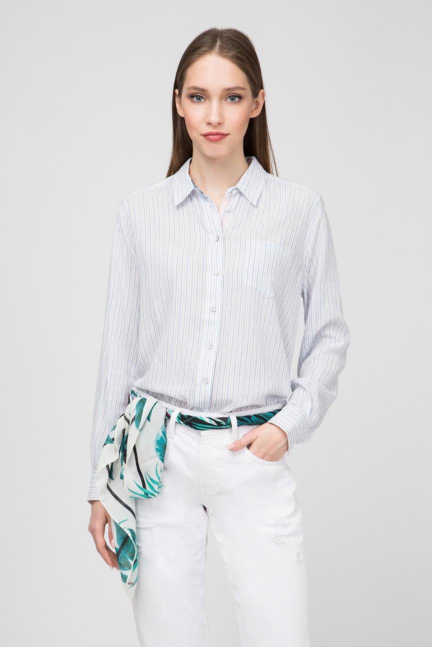Женская голубая рубашка MIKAMI
