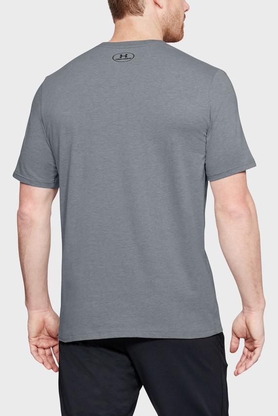 Мужская серая футболка UA Boxed Sportstyle SS
