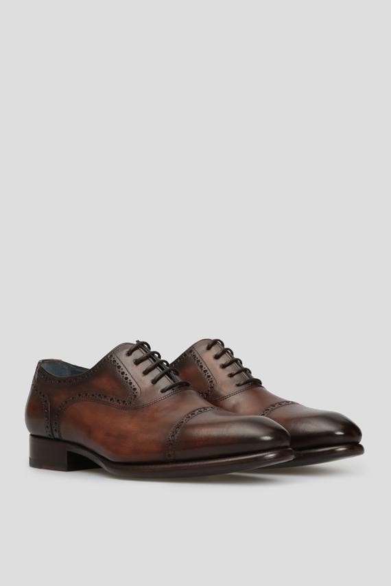 Мужские коричневые кожаные оксфорды