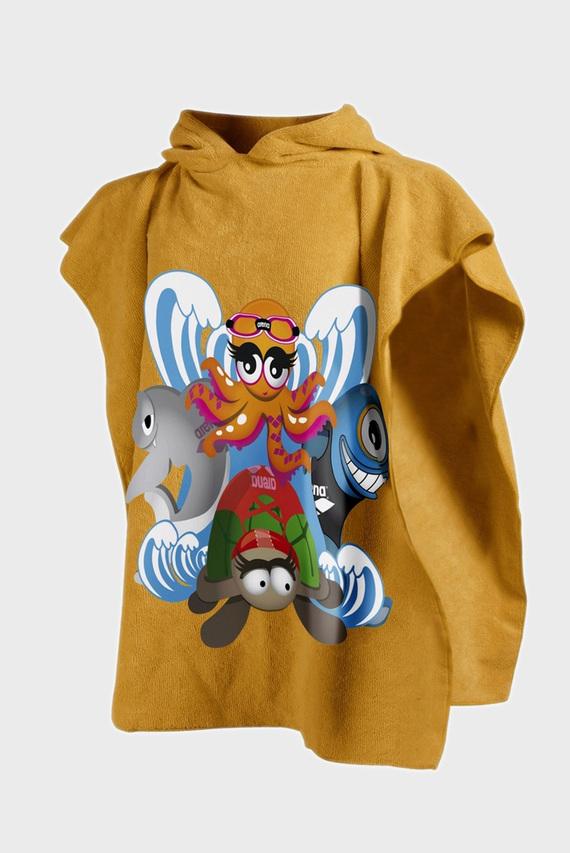 Детский желтый халат-полотенце ZIGGY KIDS