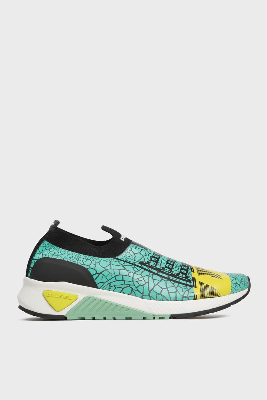 Мужские зеленые кроссовки SKB CRACKLE