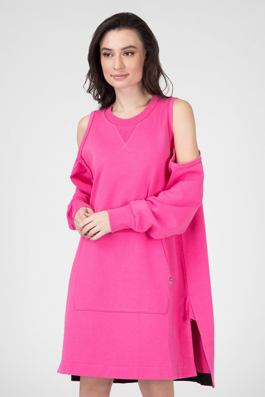 Женское розовое платье
