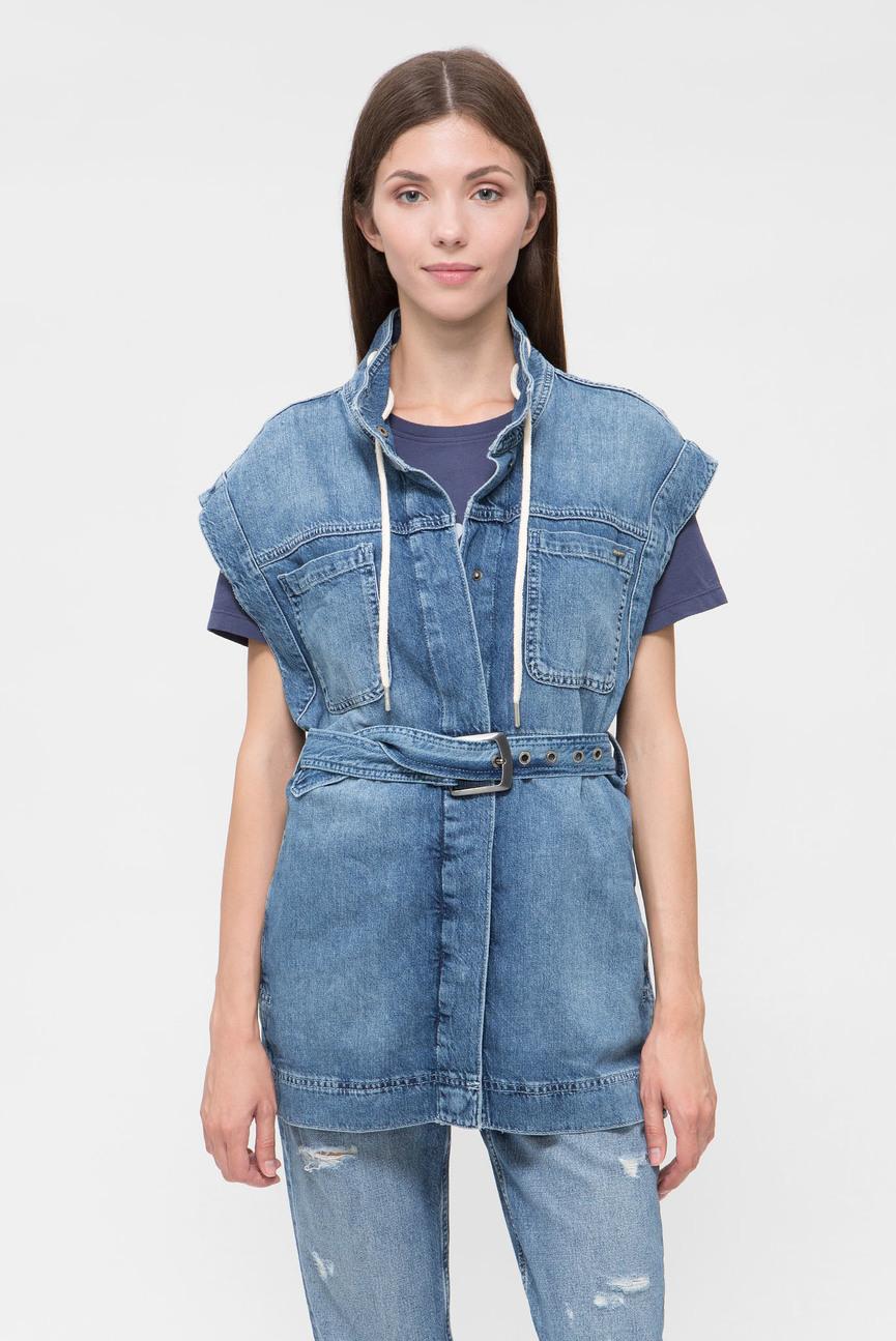 Женский голубой джинсовый жилет ACE