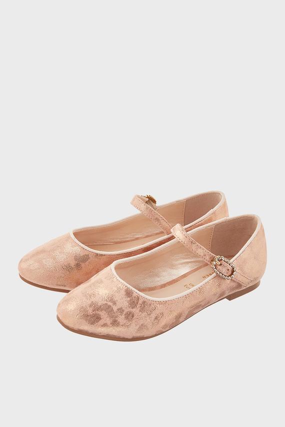 Детские розовые балетки LUNA BALLERINA