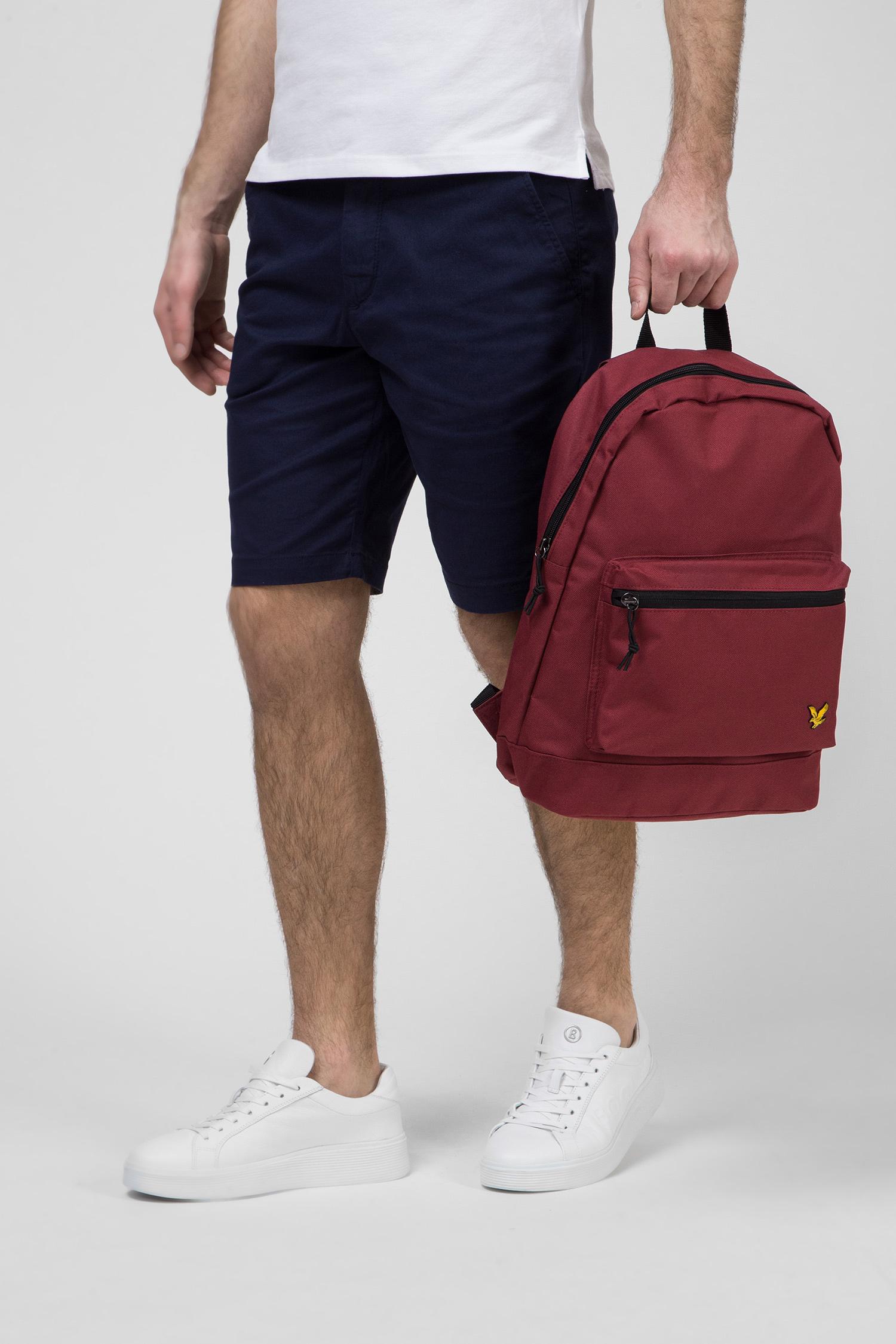 Мужской бордовый рюкзак Lyle & Scott