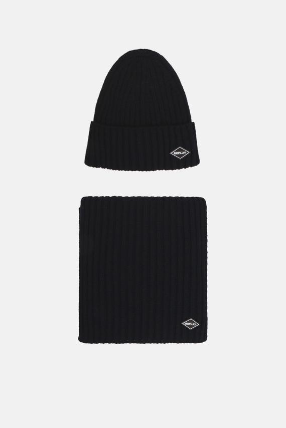Мужской комплект аксессуаров (шапка, шарф)