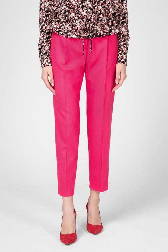 Женские малиновые брюки
