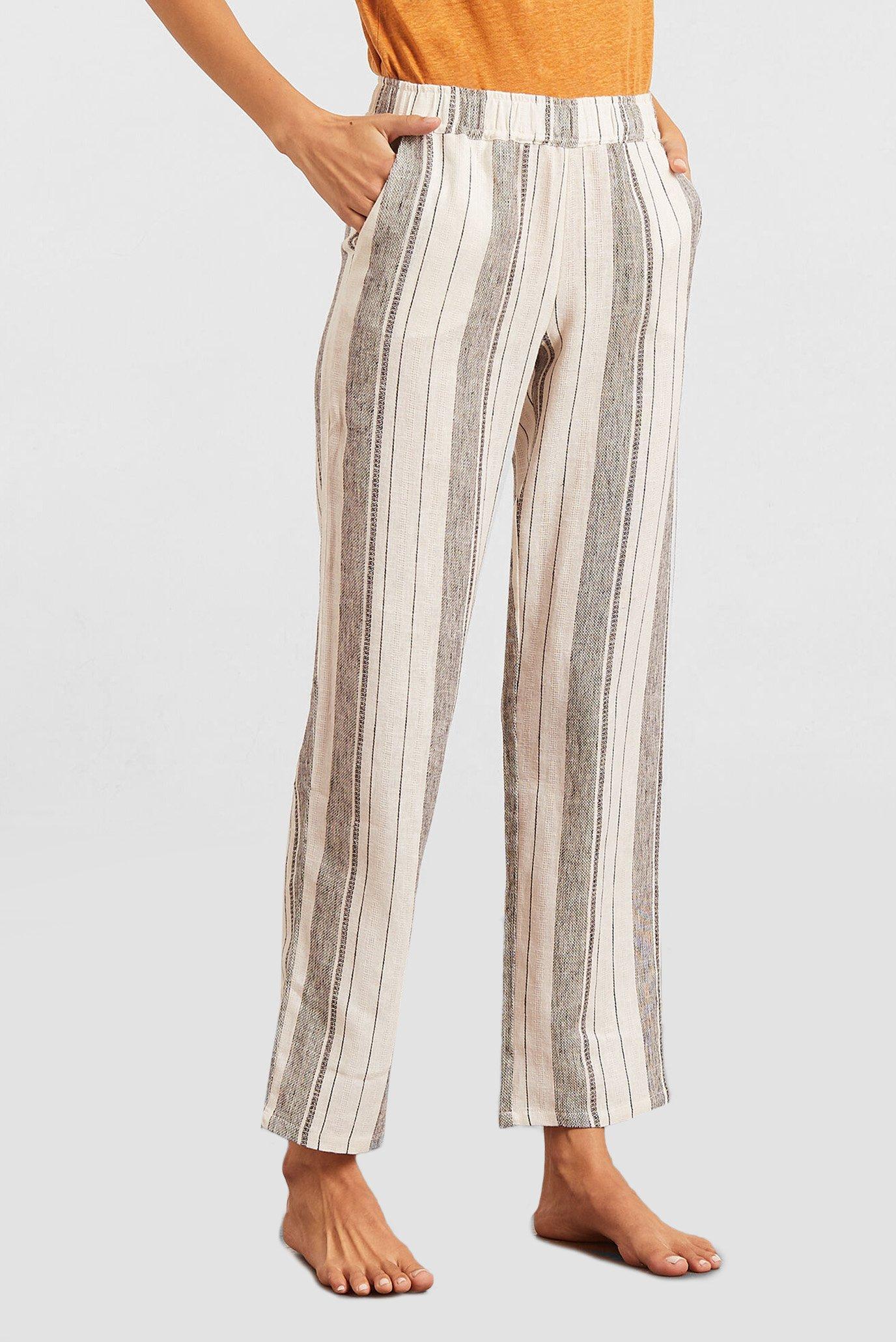 Женские белые льняные брюки DONIA 1